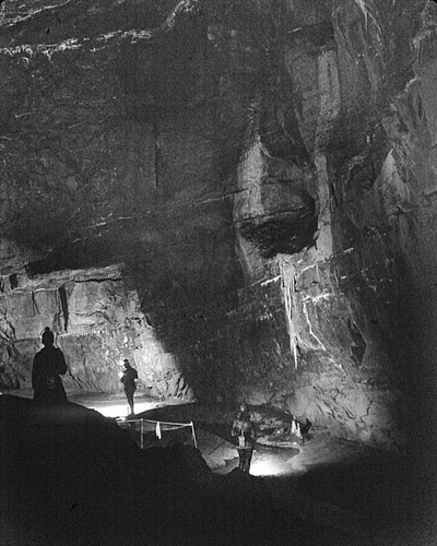 "Davey Price's Hall, Tunnel Cave, now ""Cathedral Cave"""